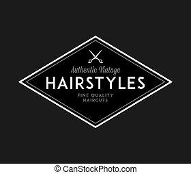 hög, barberare, frisyrer, svart, vit, kvalitet