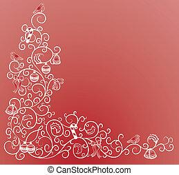 hörna, jul, mönster