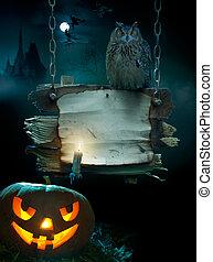 halloween festa, bakgrund, design