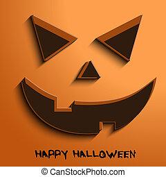 halloween, stående, bakgrund, pumpa