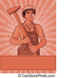 hammare, arbetare