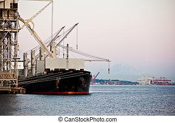 hamn, skeppning