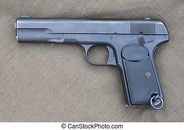 hand, browning, retro, gevär
