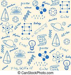 hand, oavgjord, vetenskap, seamless, ikonen