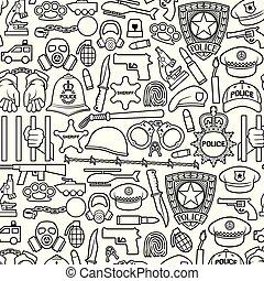 handklovar, sätta, kedja, revolver, bullet), maskera, bil, tråd, hjälm, polis, sheriff, ikonen, bomb, (british, tunn, barbed, stjärna, slagträ, gas, hatt, räcker, fodra, skydda, poliskonstapel, tjänsteman, boja, helikopter