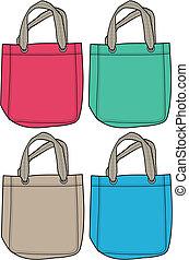 handväska, mode, illustration