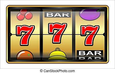 hasardspel, 777, illustration