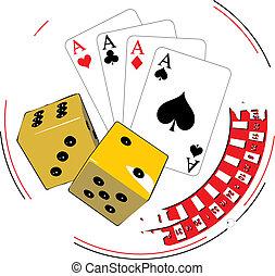hasardspel, illustration