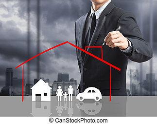 hem, begrepp, försäkring