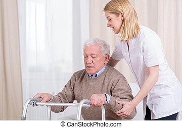 hem, sjukvård, rehabilitering