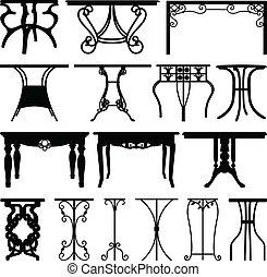 hem, skrivbord, möblemang, design, bord