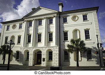 historisk, domstolsbyggnad