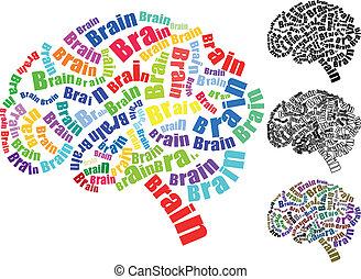 hjärna, text