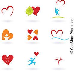hjärta, kardiologi, ikonen