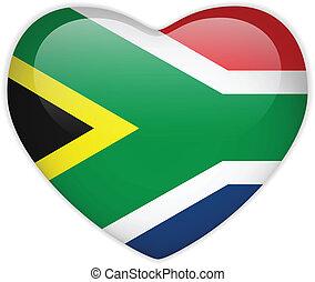 hjärta, knapp, afrika, flagga, glatt, syd