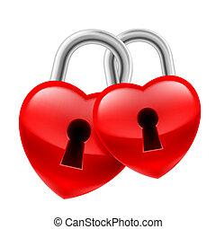 hjärta, låser