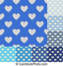 hjärta, seamless, fond mönstra