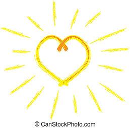 hjärta, solsken