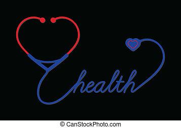hjärta, stetoskop