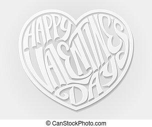 hjärta, valentinkort dag, lycklig