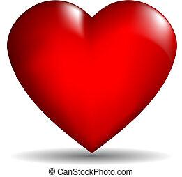hjärta, vektor, 3