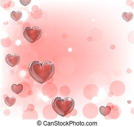 hjärtan, valentinkort dag, bakgrund