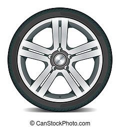 hjul, bil