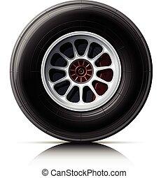 hjul, bil, sports
