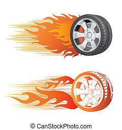 hjul, låga