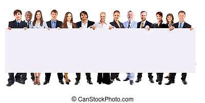 holdingen, folk, baner, affär, bakgrund, längd, isolerat, fyllda, rad, många, tom, vit