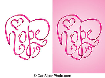 hopp, -, medvetenhet, cancer, bröst