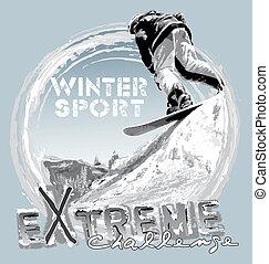hopp, snowboard, gratis