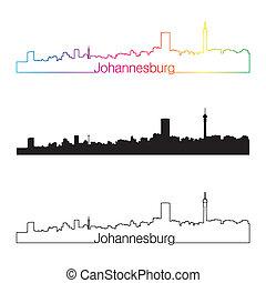 horisont, regnbåge, stil, linjär, johannesburg