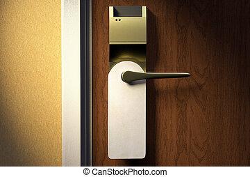 hotell, dörr vred