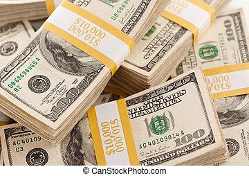 hundra, lagförslaget, dollar, buntar, en
