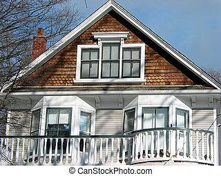 hus, balkong