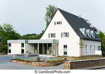 hus, förorts-