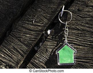 hus, form, keychain