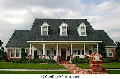 hus, stil, klassisk, färsk