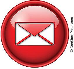 ikon, email, posta, button.