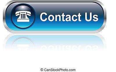 ikon, knapp, kontakt oss