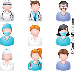 ikonen, folk, -, medicinsk