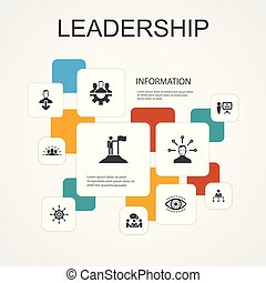 ikonen, motivering, teamwork, template., kommunikation, ledarskap, infographic, enkel, fodra, ansvar, 10