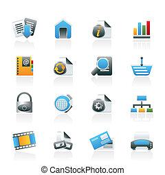 ikonen, nät internet, plats