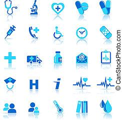ikonen, omsorg, hälsa