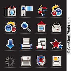 ikonen, websajt, internet