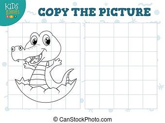 illustration., förskola, vektor, bilda, avskrift, lek, bild, lurar