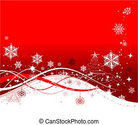 illustration, jul, bakgrund, vektor, design, helgdag, din