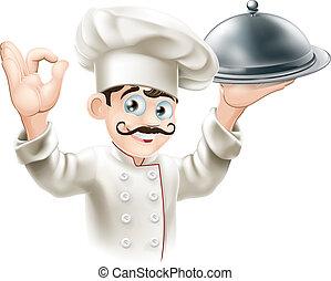 illustration, kock, finsmakare