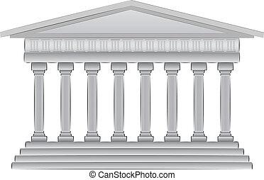 illustration, kupol, grek, vektor